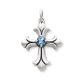 Fleuree Cross with Blue Topaz