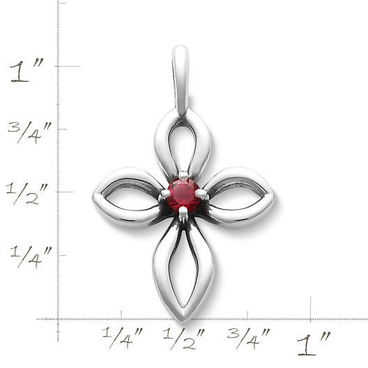 View Larger Image of Avery Remembrance Cross with Lab-Created Ruby