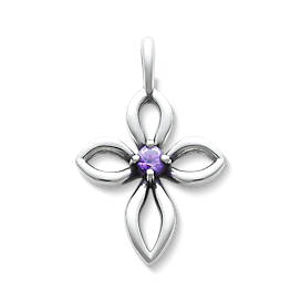 Avery Remembrance Cross with Amethyst