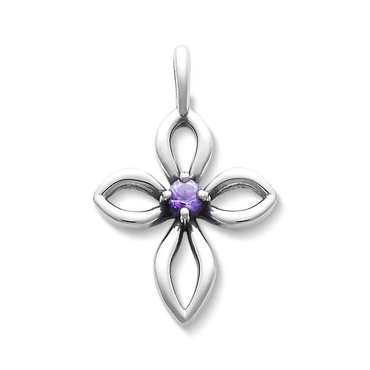 View Larger Image of Avery Remembrance Cross with Amethyst