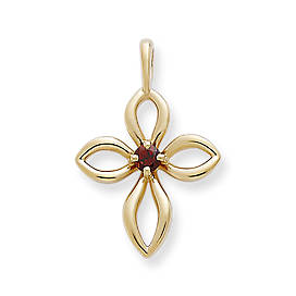 Avery Remembrance Cross with Garnet