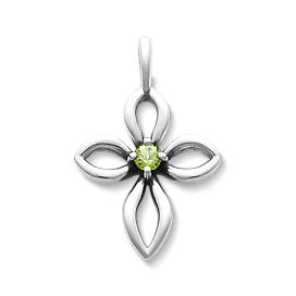 Avery Remembrance Cross with Peridot