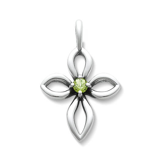 View Larger Image of Avery Remembrance Cross with Peridot