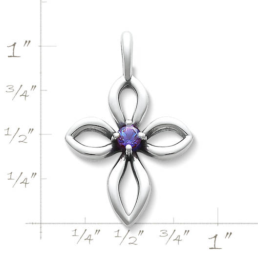 View Larger Image of Avery Remembrance Cross with Lab-Created Alexandrite