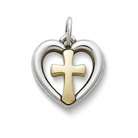 Eternal Love Gold & Silver Charm