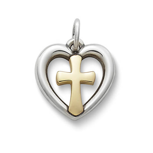 View Larger Image of Eternal Love Gold & Silver Charm