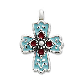 Enamel La Rosa Cross