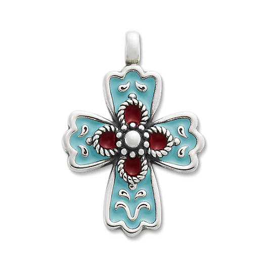 View Larger Image of Enamel La Rosa Cross
