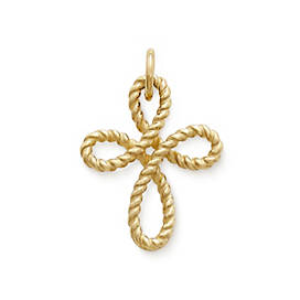 Delicate Twist Cross