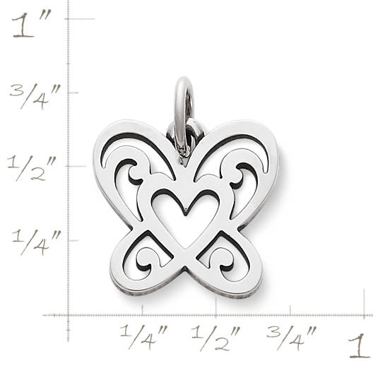 View Larger Image of Open Butterfly Heart Charm