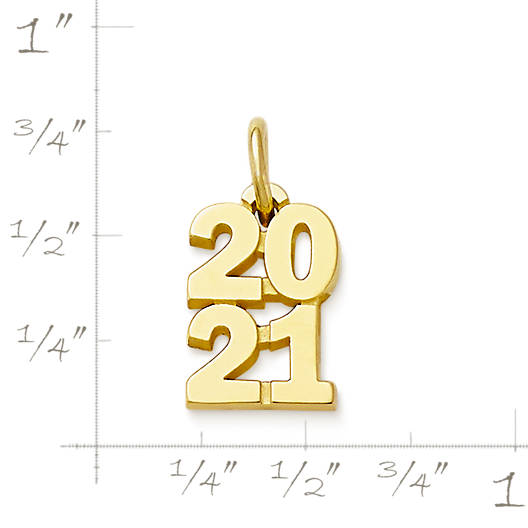 """View Larger Image of Year """"2021"""" Charm"""