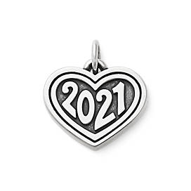 "Heart with ""2021"" Charm"