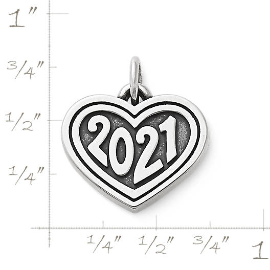 "View Larger Image of Heart with ""2021"" Charm"