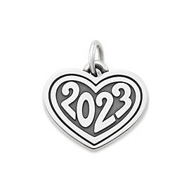 """2023"" Heart with Year Charm"