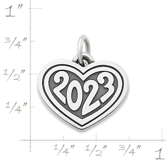 "View Larger Image of Heart with ""2023"" Charm"
