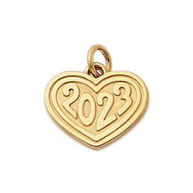 """Heart with """"2023"""" Charm"""