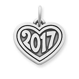 """Heart with """"2017"""" Charm"""