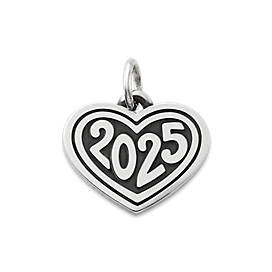 "Heart with ""2025"" Charm"