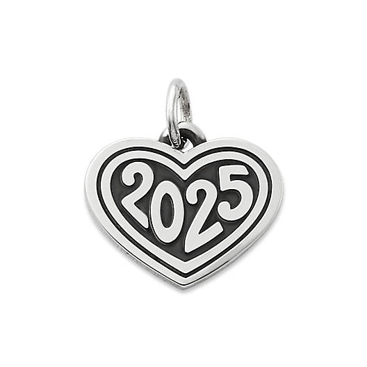 "View Larger Image of Heart with ""2025"" Charm"
