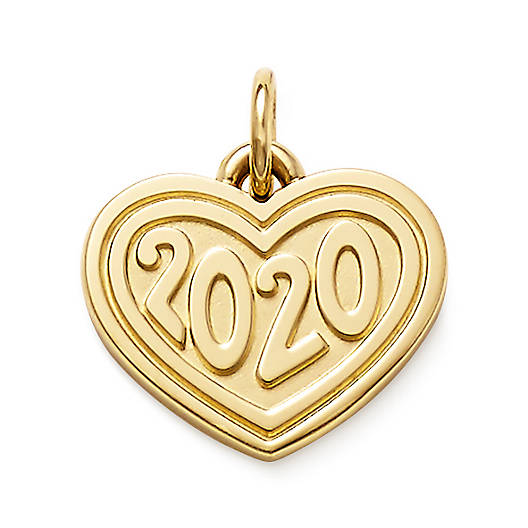 "View Larger Image of Heart with ""2020"" Charm"