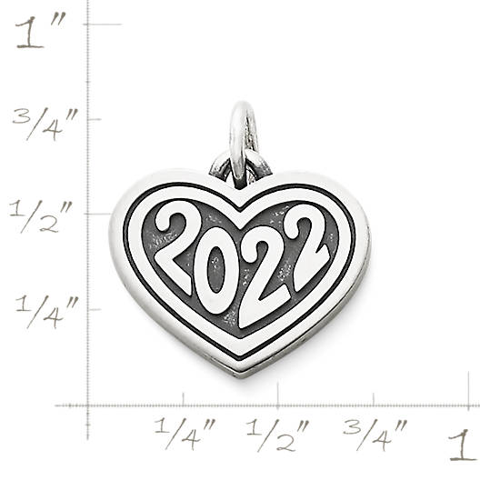 "View Larger Image of Heart with ""2022"" Charm"