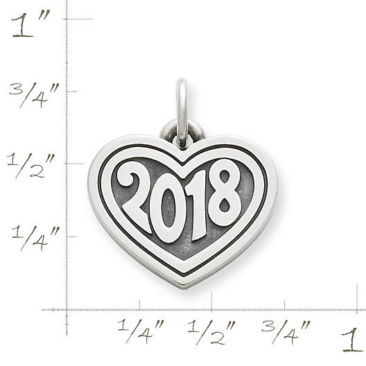 "View Larger Image of Heart with ""2018"" Charm"