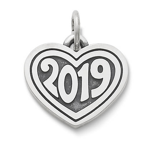 "View Larger Image of Heart with ""2019"" Charm"
