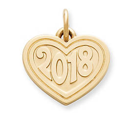 "Heart with ""2018"" Charm"