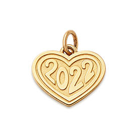 """Heart with """"2022"""" Charm"""