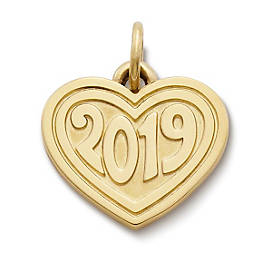 "Heart with ""2019"" Charm"