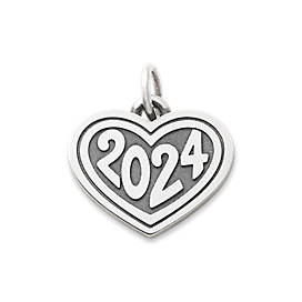 "Heart with ""2024"" Charm"