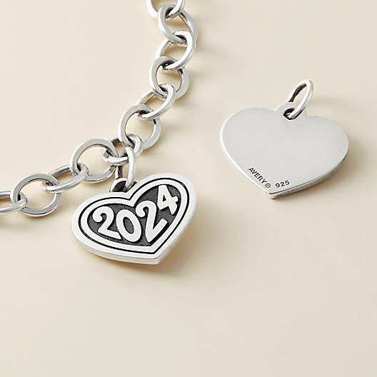 """View Larger Image of Heart with """"2024"""" Charm"""