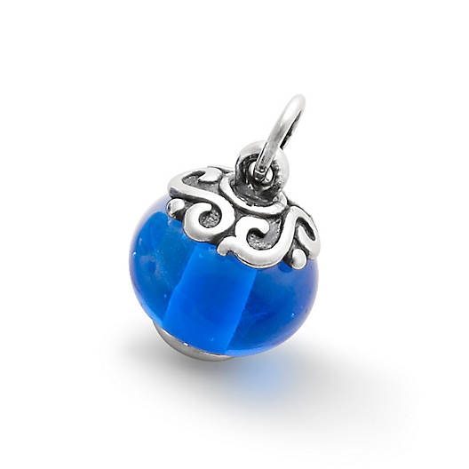 View Larger Image of Gentle Wave Finial with Blue Charm