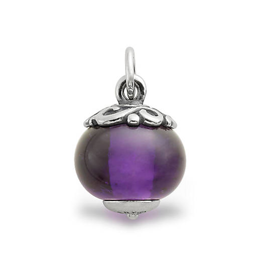 View Larger Image of Gentle Wave Finial with Purple Charm