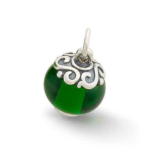 View Larger Image of Gentle Wave Finial with Green Charm