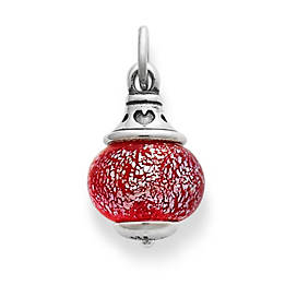 Love Finial with Frosted Red Charm