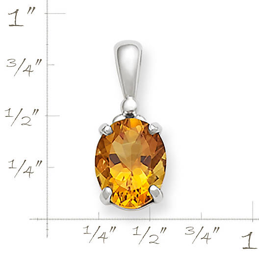 View Larger Image of Classic Citrine Drop Pendant