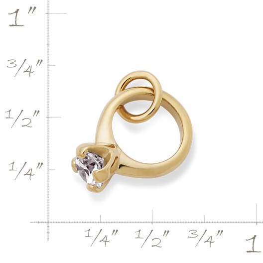 View Larger Image of Engagement Ring Charm with Cubic Zirconia