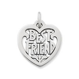 """""""Best Friend"""" Heart Charm"""