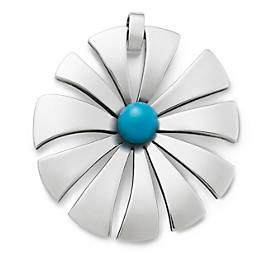 Sunburst Blossom with Turquoise Pendant