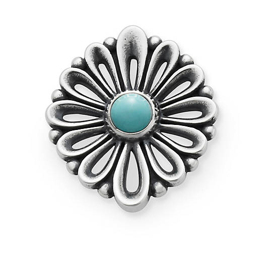 View Larger Image of De Flores Pendant with Turquoise