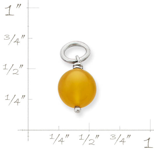 View Larger Image of Yellow Chalcedony Bead Charm