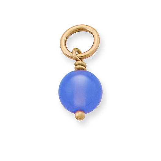View Larger Image of Blue Chalcedony Bead Charm