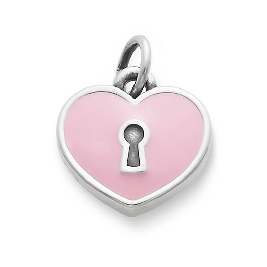 View Larger Image of Enamel Heart Lock Charm