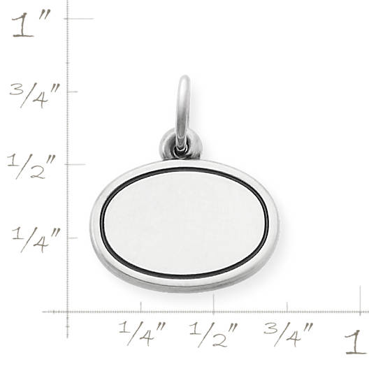 View Larger Image of Engravable Oval Disc Charm