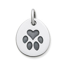 Heart Paw Pet Tag Charm