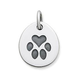 Heart Paw Pet Tag Charm