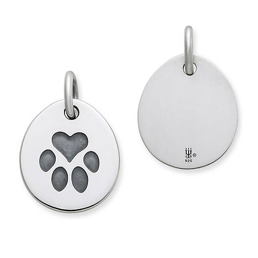 View Larger Image of Heart Paw Pet Tag Charm