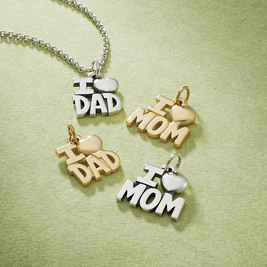 View Larger Image of I Love Dad Charm