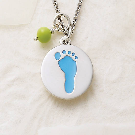 View Larger Image of Enamel Baby Boy Footprint Charm